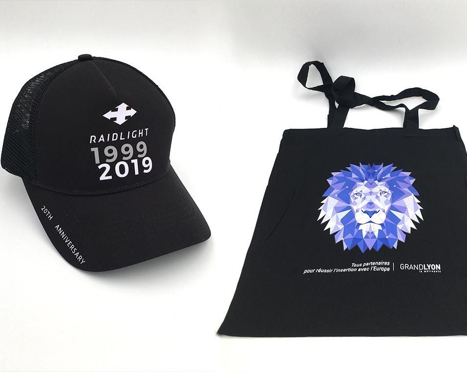 casquette et sac en toile personnalisés pour des marques